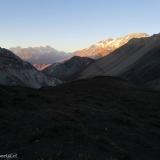 09 Andes Centrales & Cara SSO del Volcan San Jose 5.856msnm al Ocaso