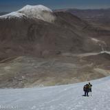 30 Descendiendo Sobre el Glaciar en Cara SO del Acotango