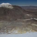 31 Descendiendo Sobre el Glaciar en Cara SO del Acotango