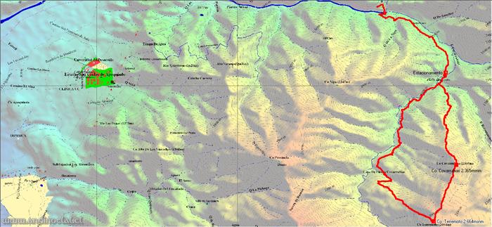 Track Cos. Terremoto 2.664msnm & Covarrubias 2.365msnm