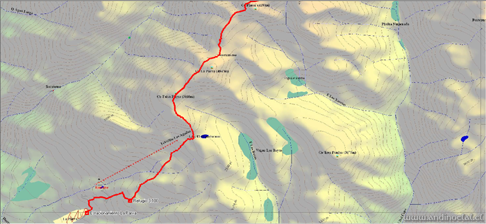 Tramo Inferior Ascenso Cerro Punta Hermandad 4.930msnm