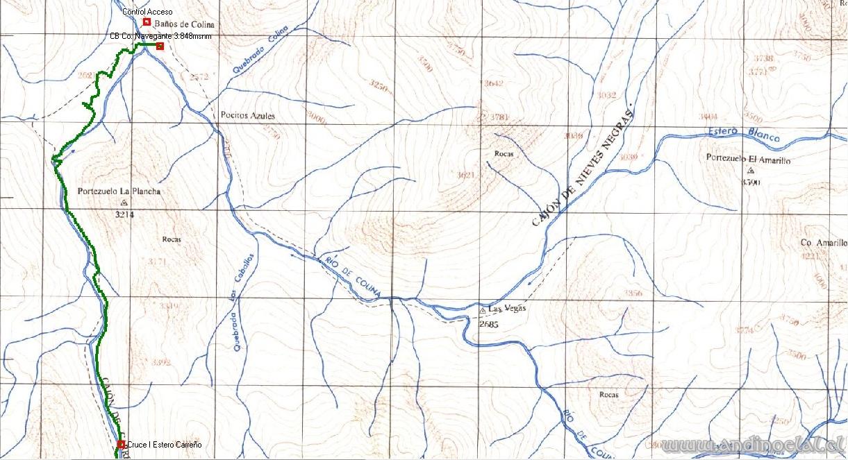 Tramo Inferior Track Ascenso Co. Aneki 4.000msnm (GPS)