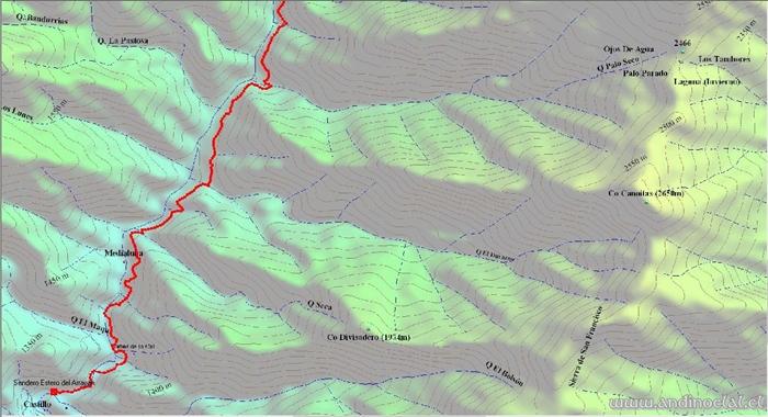 Tramo Inferior Track Ascenso Co. De Los Ángeles 3.623msnm