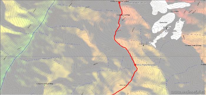 Tramo Superior Ascenso Cerro Punta Hermandad 4.930msnm