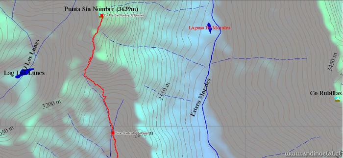 Tramo Superior Ascenso Co. Punta Sin Nombre 3.639msnm (GPS)