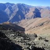 28 Quebrada Calvarito & Cara S Cos. Doña Ana 5.648msnm Escabroso 5.389msnm y Los Piuquenes 3.835msnm