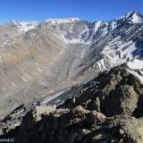21 Vista hacia el Glaciar del Piramide y los Cos. Alto del Yeso 5.170msnm y Piramide 5.484msnm