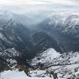28 Estero Coyanco Lomas de las Tierras Blancas & Rio Maipo desde el Pta. Horizonte 2.374msnm