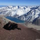 24 Laguna Negra y Embalse El Yeso desde el Co. Reina 4.755msnm