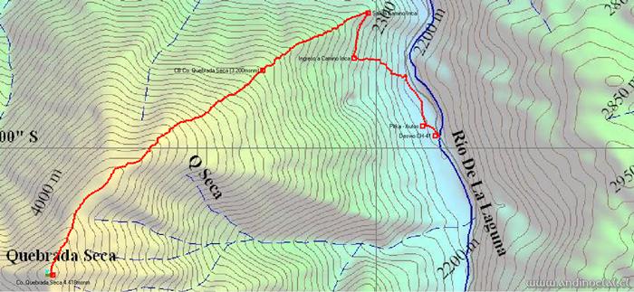 Track Ascenso Quebrada Seca 4.418msnm