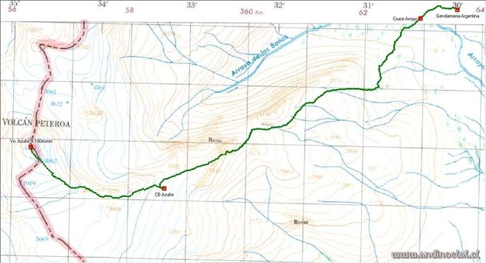 Track Ascenso Vn. Azufre 4.100msnm