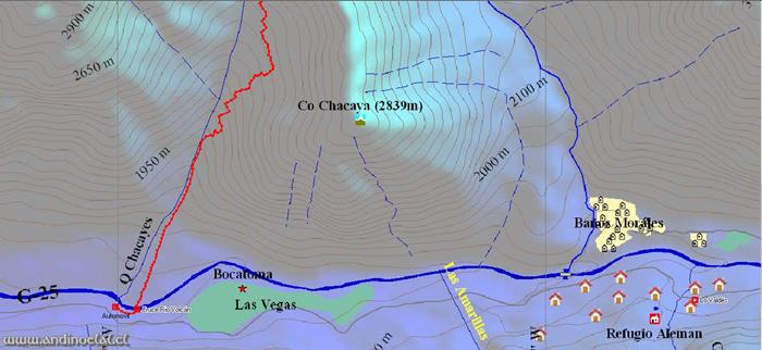 Tramo Inferior Ascenso Co. Punta Sin Nombre 3.639msnm (GPS)