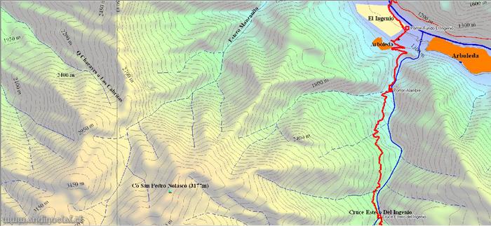 Tramo Inferior Track Ascenso Cerro Euzkadi 3.615msnm