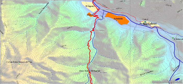 Tramo Inferior Track Ascenso Cerro Santa Rita 3.533msnm