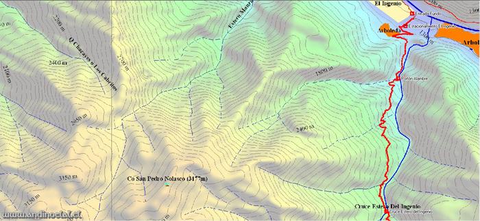 Tramo Inferior Track Ascenso Cerro Tontor Zapala 3.610msnm