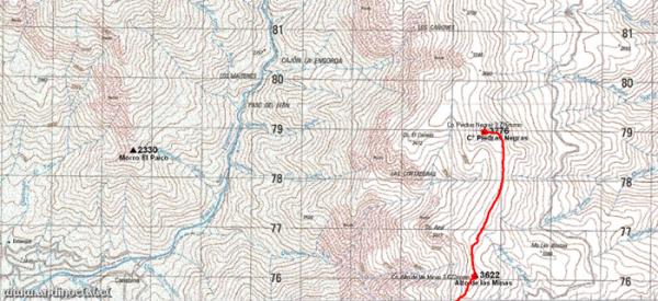 Tramo Superior Ascenso Co. Piedras Negras 3.776msnm