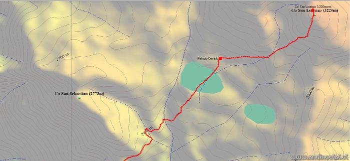 Tramo Superior Ascenso Co. San Lorenzo 3.220msnm