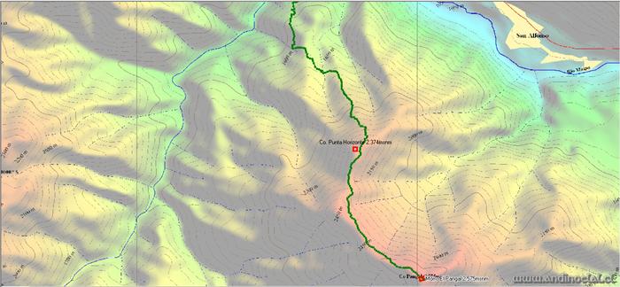 Tramo Superior Ascenso Mo. El Pangal 2.575msnm