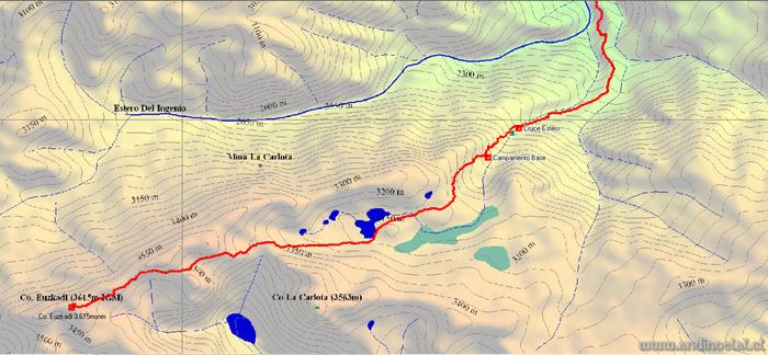 Tramo Superior Track Ascenso Cerro Euzkadi 3.615msnm