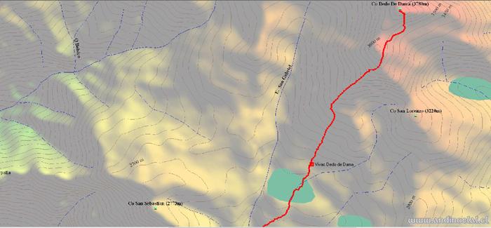 Tramo Superior Track Ascenso Co. Dedo de Dama 3.780msnm