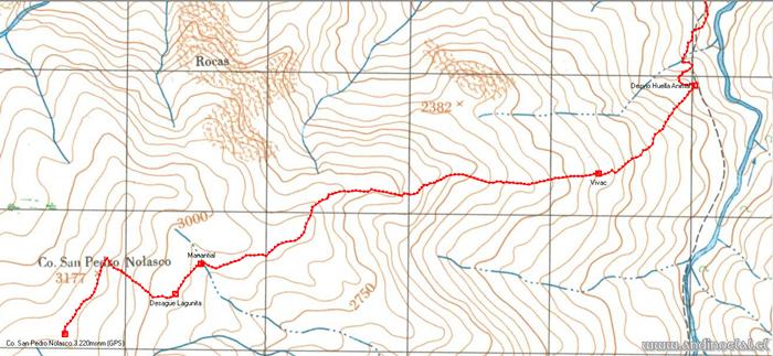 Tramo Superior Track Ascenso Co. San Pedro Nolasco 3.177msnm